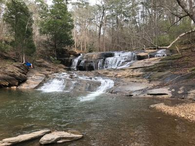Toonigh Creek Falls in Holly Springs, GA