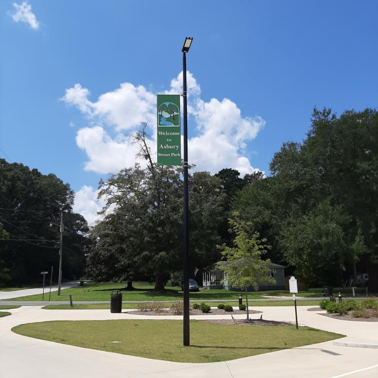 Asbury Street Park in Oxford, GA